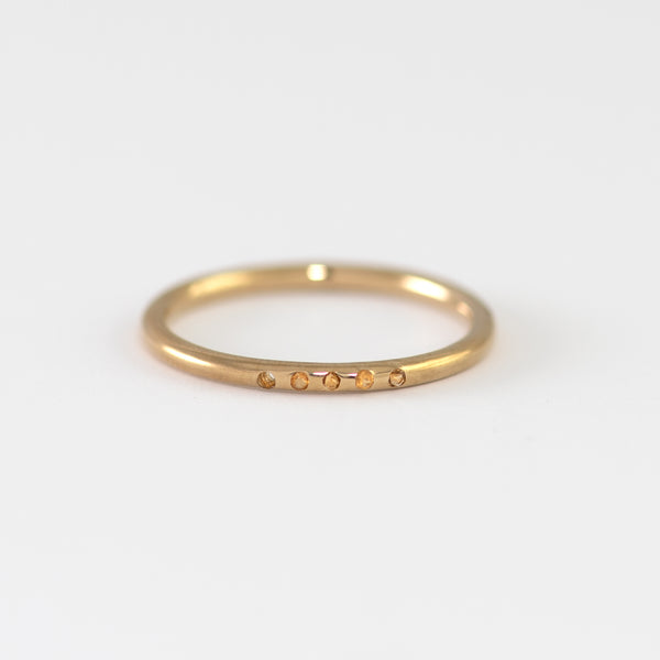 Naomi Citrine on gold ring
