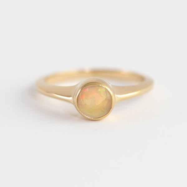 Opal on gold ring Ohana