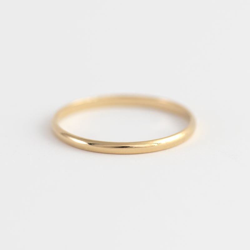 Yellow gold ring Ivy