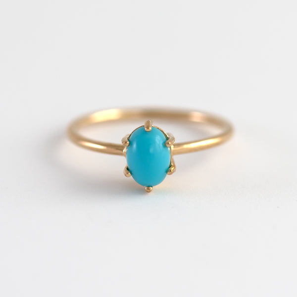 Turquoise on Gold ring Tryst