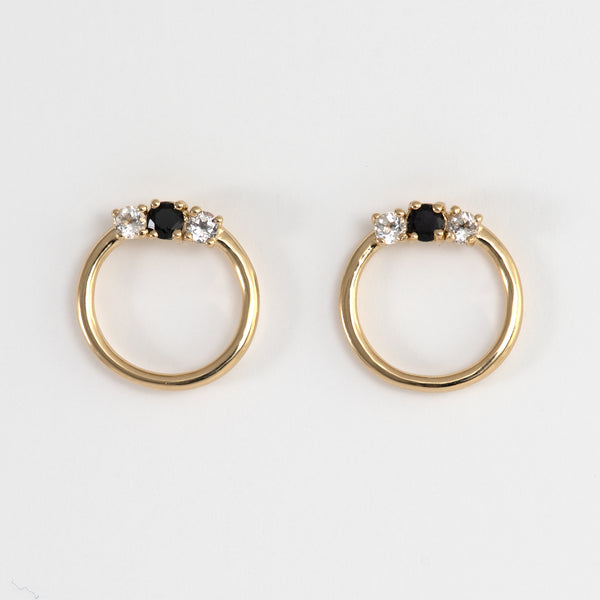 Jana White Topaz and Black Spinel Earrings