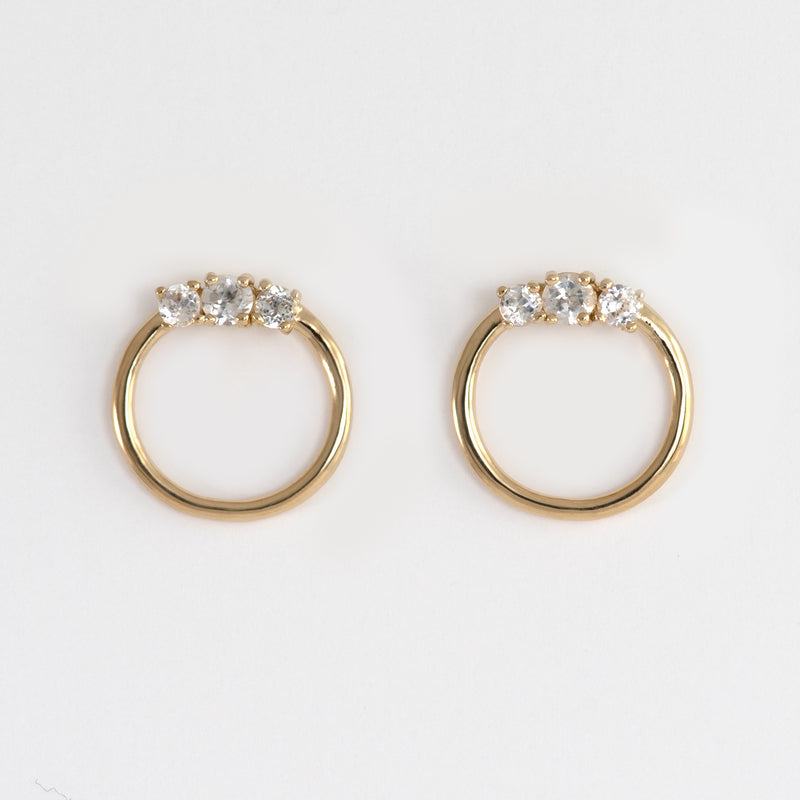 Liz White Topaz Earrings