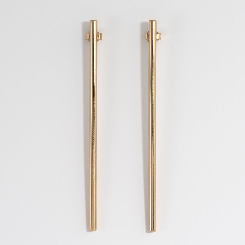 Gold pylon earrings Aimee
