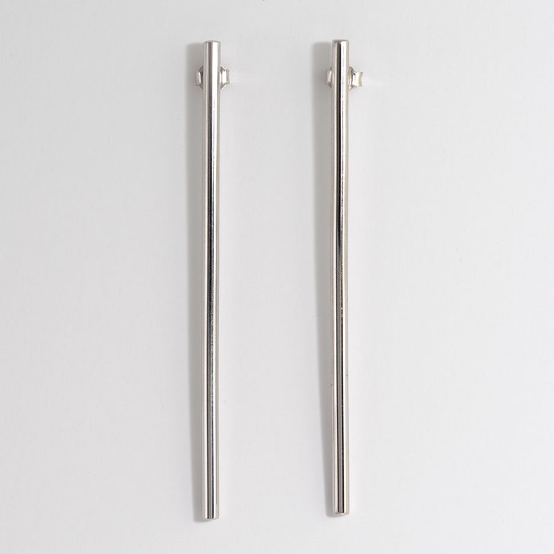 White gold pylon earrings Aimee