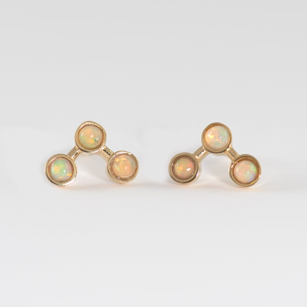 Tri Opal stud earrings Luna