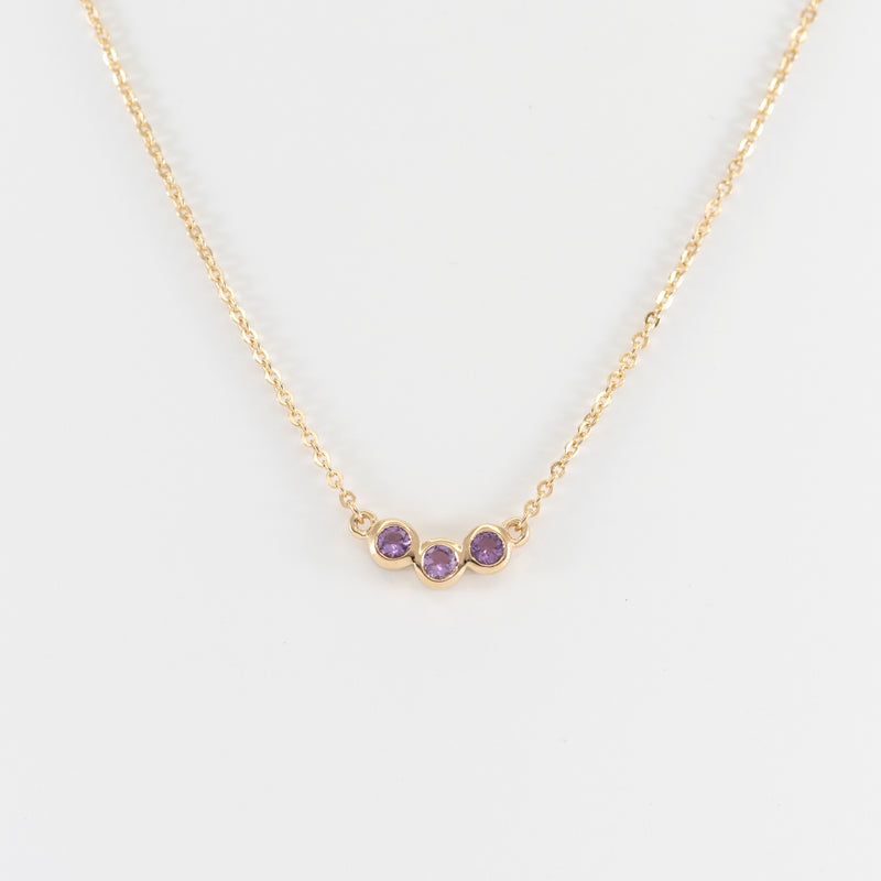 Amethyst gold necklace Brooke