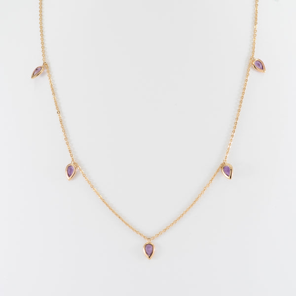 Amethyst Gold necklace Kim