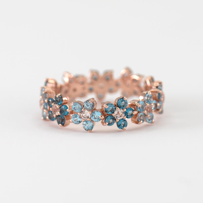 Viola Blue Topaz Rose gold ring