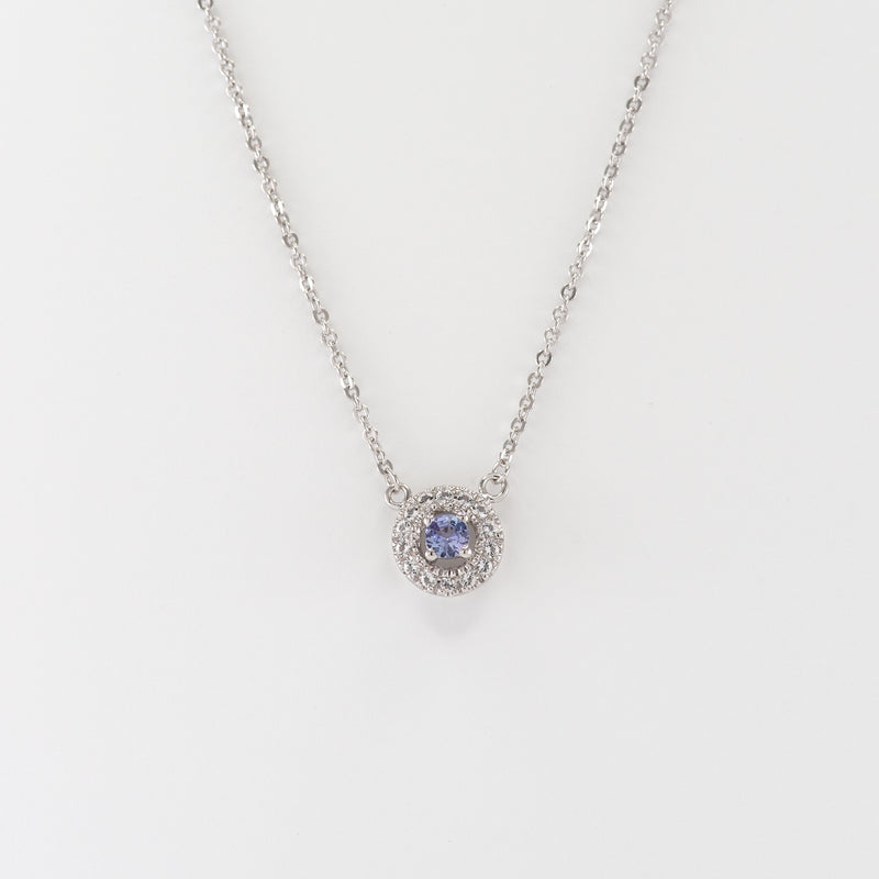 Amelia Tanzanite and White Topaz White Gold necklace