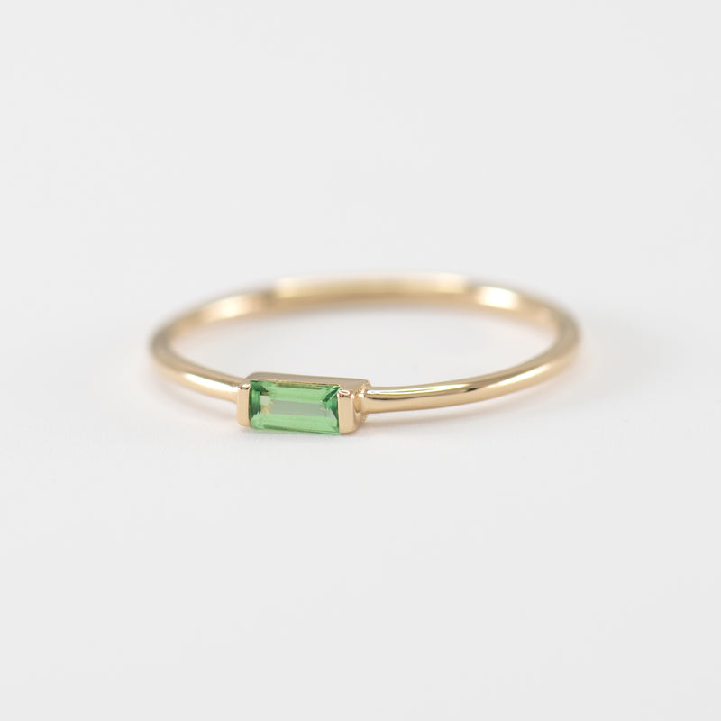Tsavorite Garnet gold ring
