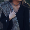 White gold necklace Alena worn on model