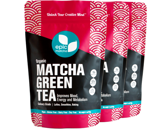 Culinary Grade Matcha from Japan - 4 Ounces (Pack of 3)