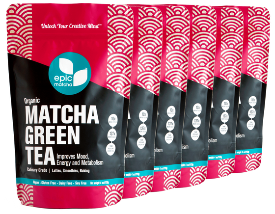 Culinary Grade Matcha from Japan - 4 Ounces (Pack of 6 - Buy 4 Get 2 Free)