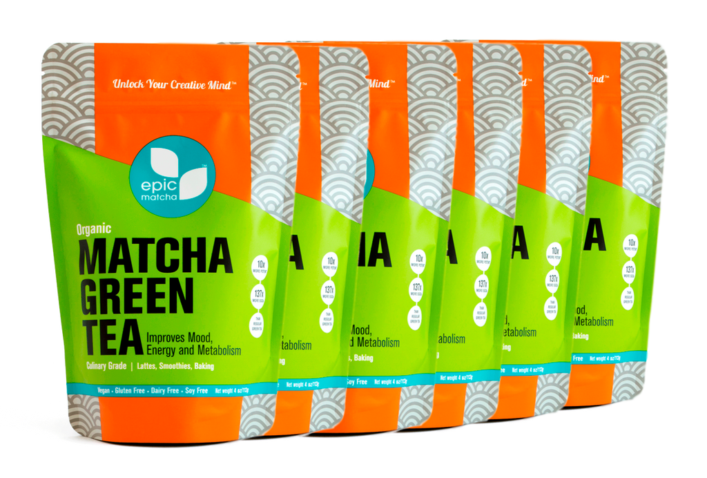 Culinary Grade Matcha from China - 4 Ounces (Pack of 6 - Buy 4 Get 2 Free)