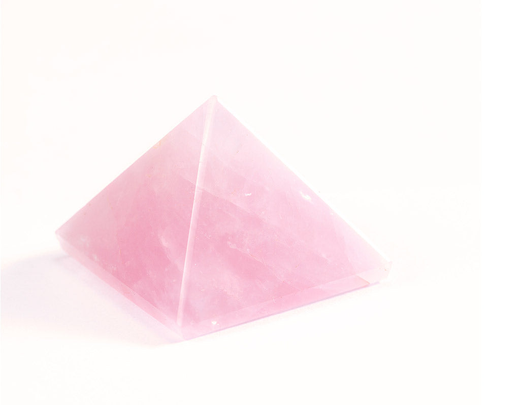 Reiki Charged Rose Quartz Pyramid Crystal
