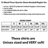 Autism Mom Power Raglan 3/4 Sleeve Baseball Style Shirt