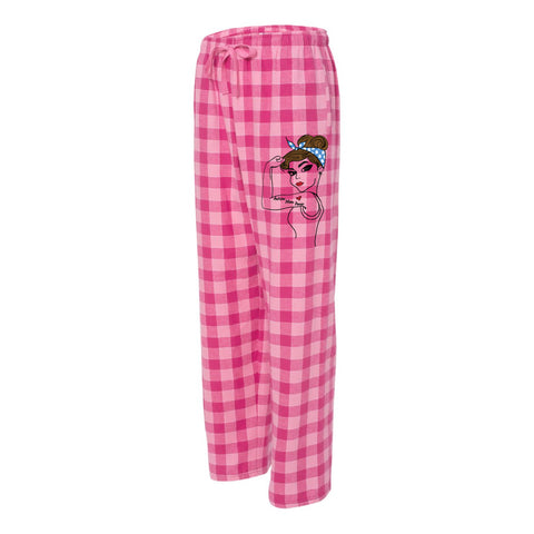 """Autism Mom Power"" Pajama Bottoms"