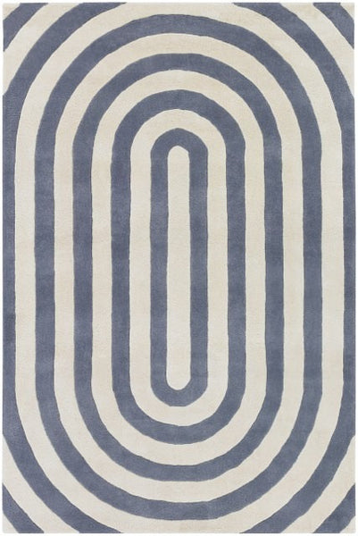 Geometric Rug in Grey and Ivory - Yarn and Loom Rugs