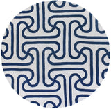 Iconic Rug in Navy Blue and Cream - Yarn and Loom Rugs