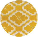 Obi Rug in Yellow and Cream - Yarn and Loom Rugs