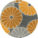 Parasols Rug in Yellow and Grey - Yarn and Loom Rugs