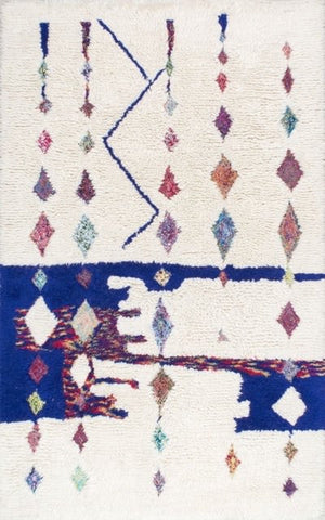 Kaleidoscope Moroccan Shag Rug in Multi-Colour - Yarn and Loom Rugs
