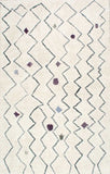 Carnival Moroccan Shag Rug in Silver Grey - Yarn and Loom Rugs