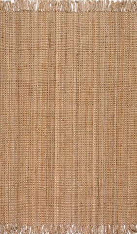 Bengal Chunky Loop Jute Rug in Beige - Yarn and Loom Rugs