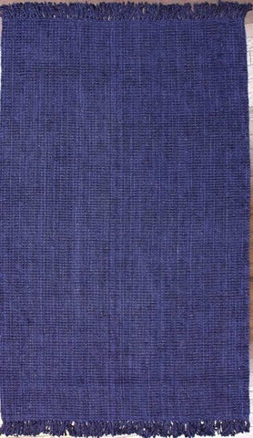 Bengal Chunky Loop Jute Rug in Navy Blue - Yarn and Loom Rugs