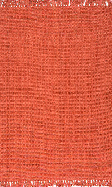 Bengal Chunky Loop Jute Rug in Terracotta - Yarn and Loom Rugs