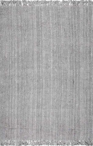Bengal Chunky Loop Jute Rug in Grey - Yarn and Loom Rugs