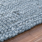 Bengal Chunky Loop Jute Rug in Blue - Yarn and Loom Rugs