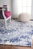 Dip Dye Medallion Rug in Blue - Yarn and Loom Rugs