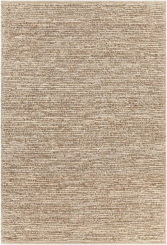 Kanpur Chunky Looped Jute Rug in Bleached - Yarn and Loom Rugs