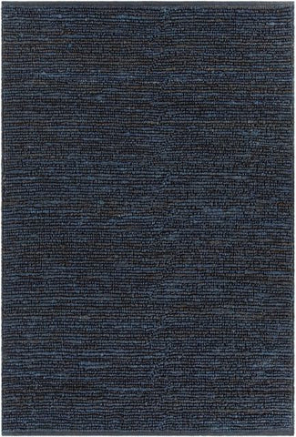 Kanpur Looped Jute Rug in Midnight Blue - Yarn and Loom Rugs