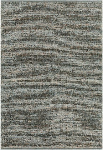 Kanpur Chunky Looped Jute Rug in Pale Blueish-Green - Yarn and Loom Rugs