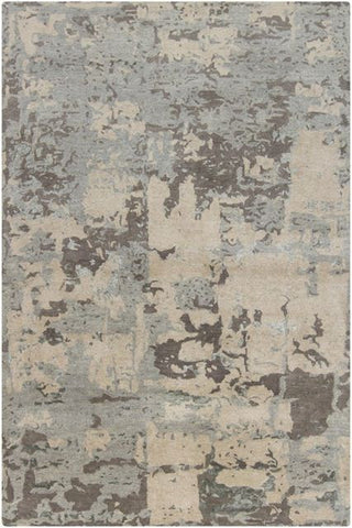 Abstract Rug in Light Grey - Yarn and Loom Rugs