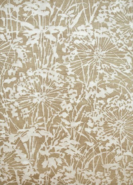 Agapanthus Rug in Soft Beige and White - Yarn and Loom Rugs