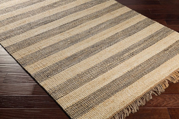 Airlie Striped Jute Rug In Grey And Natural Yarn Amp Loom Rugs