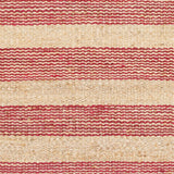 Airlie Striped Jute Runner in Pinkish-Red and Natural - Yarn and Loom Rugs