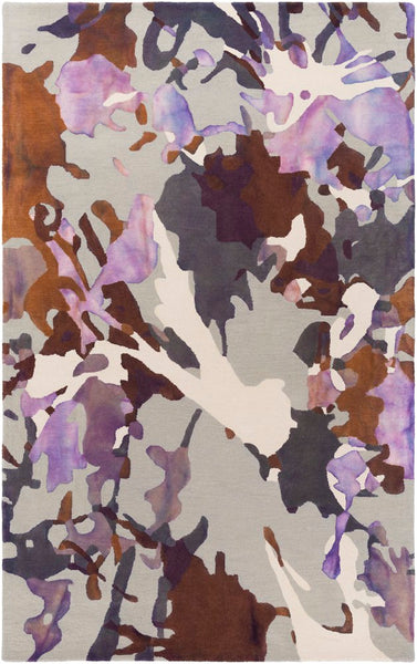 Andaman Watercolour Rug in Amethyst - Yarn and Loom Rugs