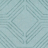 Ando Rug in Aqua - Yarn and Loom Rugs