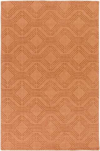 Ando Rug in Burnt Orange - Yarn and Loom Rugs