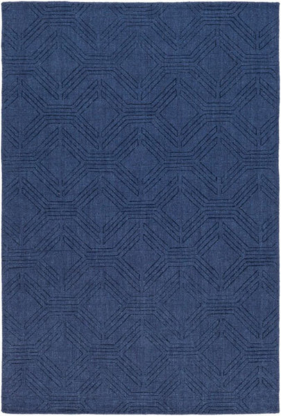 Ando Rug in Navy Blue - Yarn and Loom Rugs
