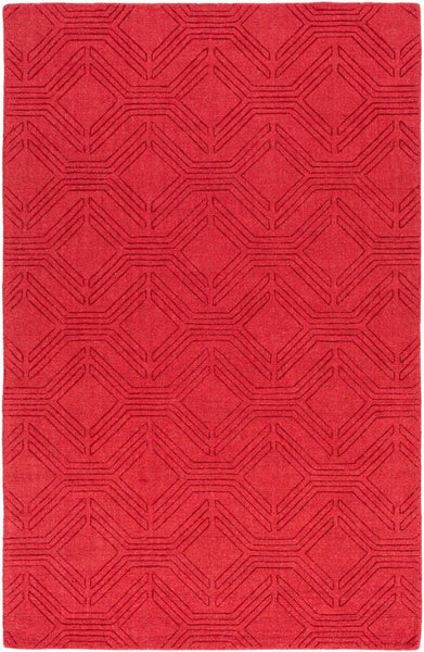 Ando Rug in Bright Red - Yarn and Loom Rugs