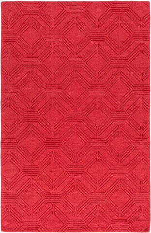 Ando Rug in Bright Red