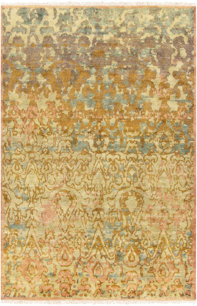 Ascot Hand Knotted Wool Rug in Camel - Yarn and Loom Rugs