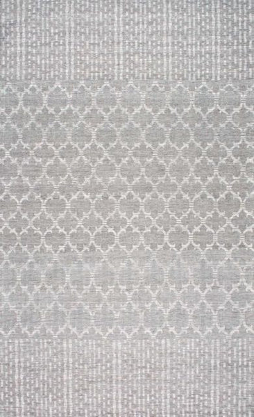 Bamboo Trellis Flatweave Rug in Grey - Yarn and Loom Rugs