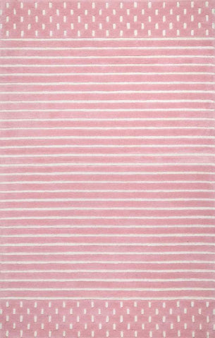Byron Striped Rug in Pink