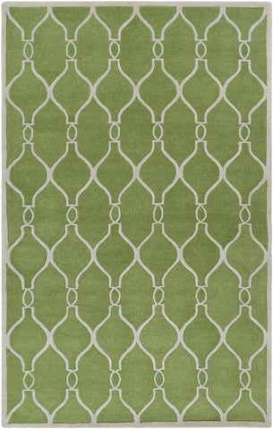 Classic Trellis Rug in Greenery and Ivory